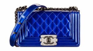Chanel classic flap bag le boy metallic small Lust4labels